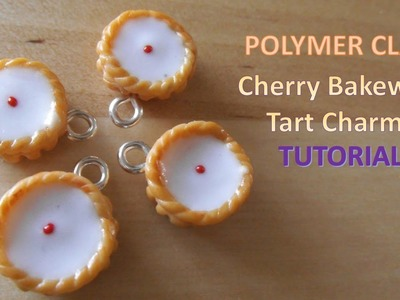 Miniature Cherry Bakewell Tart Charms - Polymer Clay TUTORIAL
