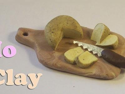 Polymer clay cheese miniatures. Formaggio in miniatura. Queso en miniatura.