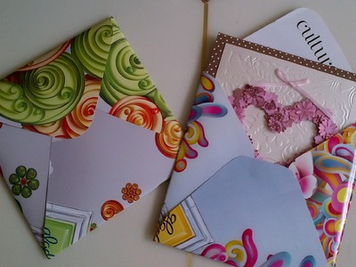 Thriftycrafts:  How to make recycled envelopes