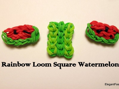 Watermelon Charm on Rainbow Loom