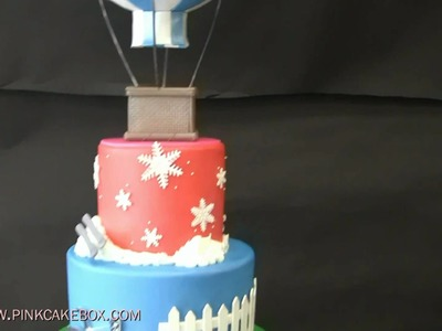 Bat Mitzvah Hot Air Balloon Cake