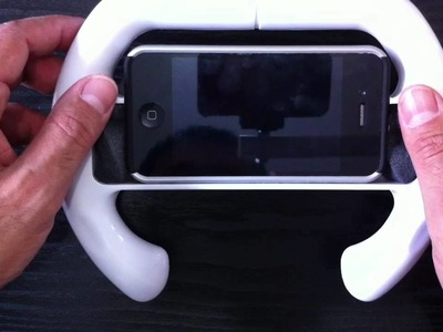 DIY Wii MARIO Wheel iPhone 4 Video Owle Stabilizer - Inc Sample Test Footage
