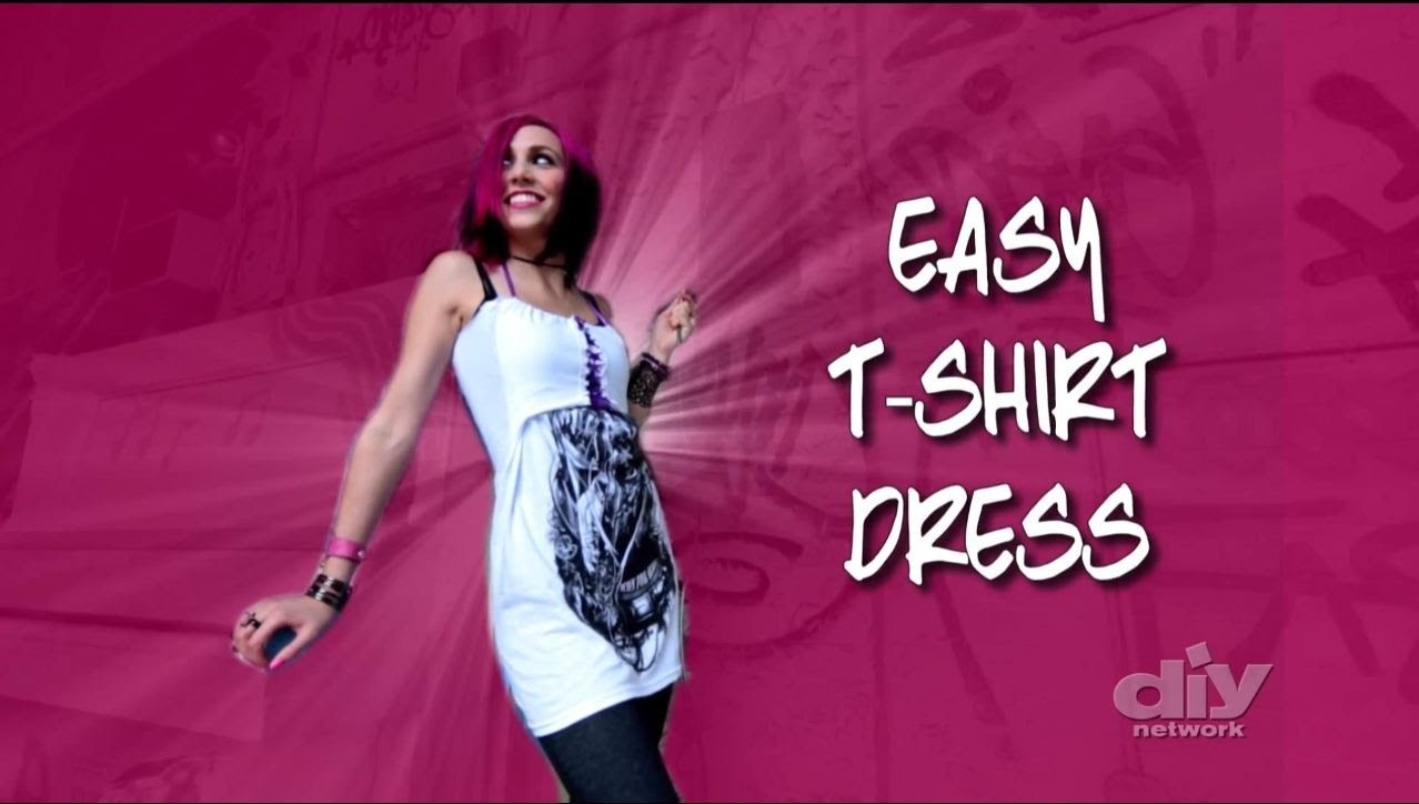 How To Make a No-Sew T-shirt Dress