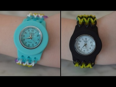How to make a Rainbow Loom Loomey Time Watch