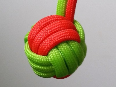How to make a two color Monkey's Fist keychain