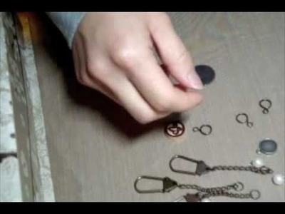 How to make Tim Holtz Swivel Clasp Charms Part 1