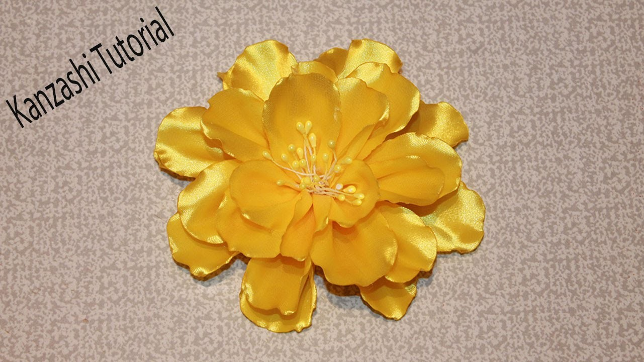 Kanzashi Flower Tutorial. Ribbon Flower Tutorial
