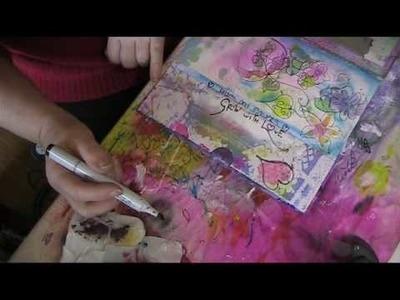 Making of art journal Heart Strings pt3