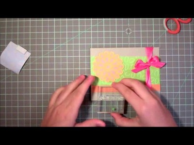 Mother's Day Flower Card with Martha Stewart Birthday Cake Art Cartridge