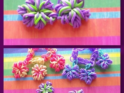 Rainbow Loom: Flower.Snowflake Charm Tutorial