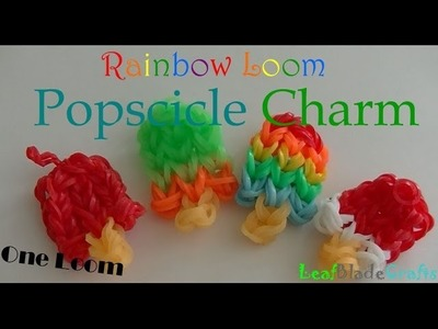Rainbow Loom Popscicle Charm How To DIY One Loom