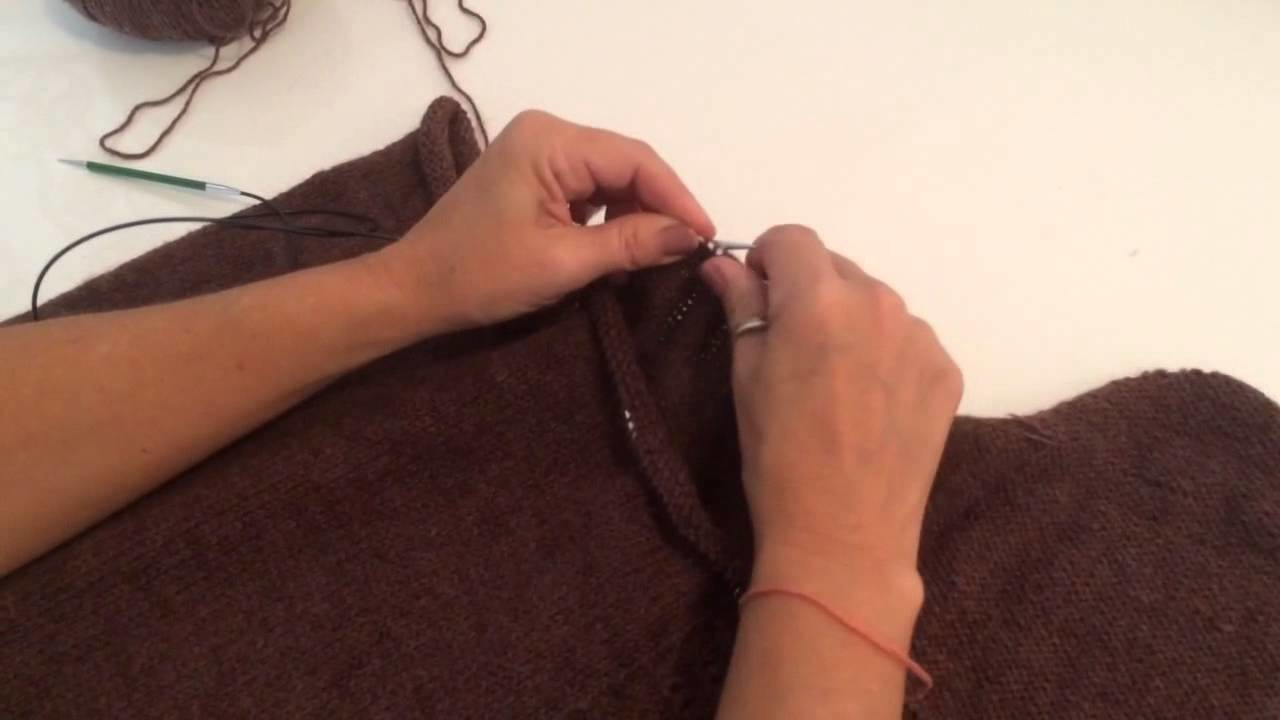 Amalie open cardigan - how to do the three-needle bind off