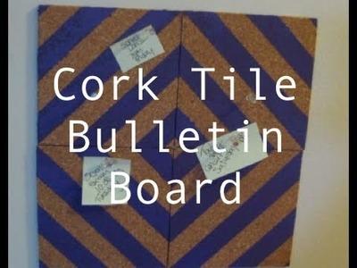 DIY: Cork Tile Bulletin Board ♡ Theeasydiy #RoomDecor