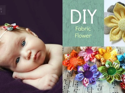 DIY Fabric Flower for Little girls!