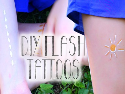 Diy Flash Tattoos - How to Fake Metallic Tattoos