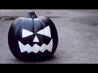 DIY No-Carve Chalkboard Pumpkin   Simple Fall