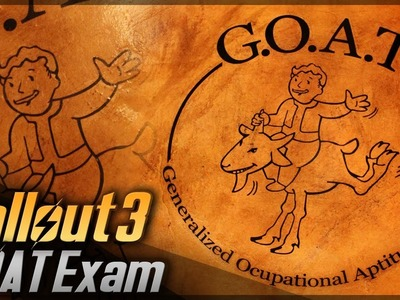 G.O.A.T. Exam. Fallout 3. Props Travel Kit Tutorial