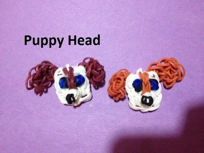 How to Make a Puppy Head Charm on the Rainbow Loom - Original Design