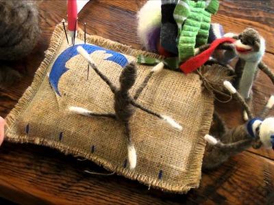 Needle Felted Sock Monkey: A Sarafina Fiber Art Ornament Tutorial