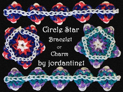 New Circle Star Bracelet. Charm. Ornament - Rainbow Loom