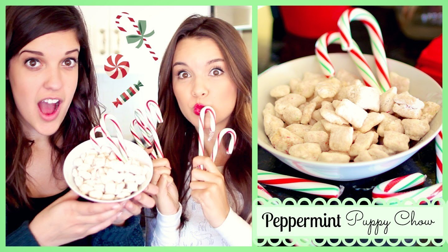 Peppermint Puppy Chow Recipe ❄ #DIYDecember Day 16