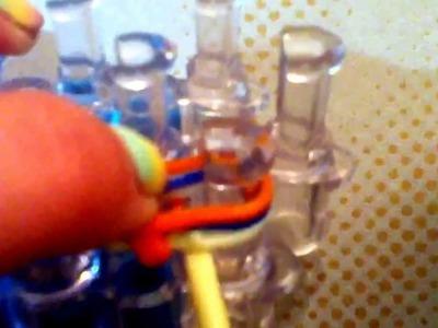 Rainbow loom fishtail key chain