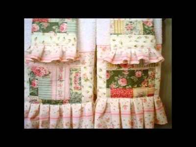 Shabby Chic Victorian  Hand M Patch work Home decor Pillows Towels Bed cover Bath mat by Zsuzsanna
