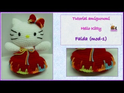 Tutorial amigurumi Hello Kitty - Falda (mod-1) (English subtitles)