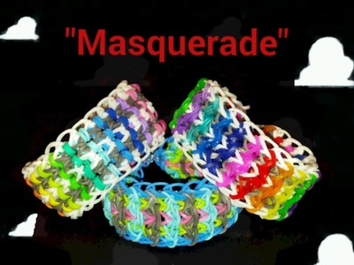 "*Updated*New Reversible "" Masquerade"" Rainbow Loom Bracelet. How To Tutorials"