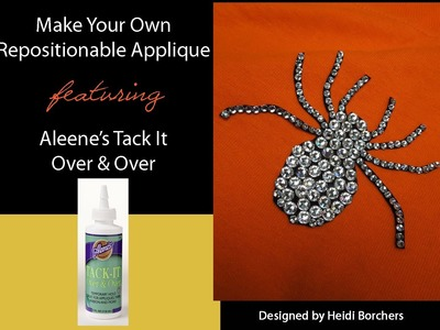 Aleene's Make Your Own Repositionable Rhinestone Applique by EcoHeidi Borchers