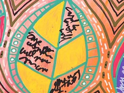 Colorful Leaf Art Journal Page by Julie Fei-Fan Balzer