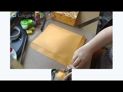 Creative Gift Wrap Idea from CreativeCynchronicity.com: Making Gift Bags From Envelopes