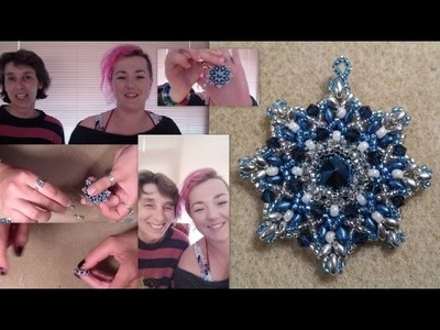 Crossing Stars Pendant Part 1 by HoneyBeads1 and Beading4perfectionists
