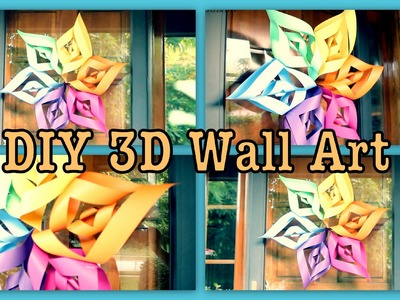 "DIY: 3D Wall Art ""Flower"""