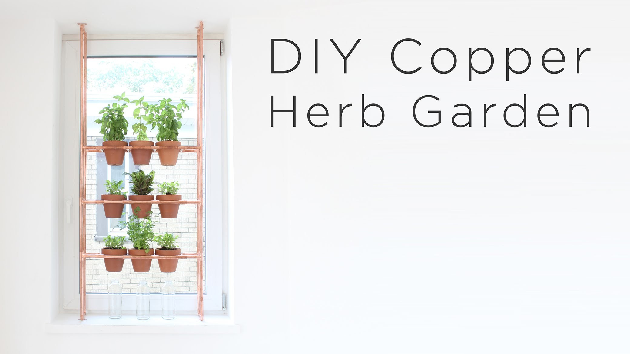 DIY Copper Herb Garden