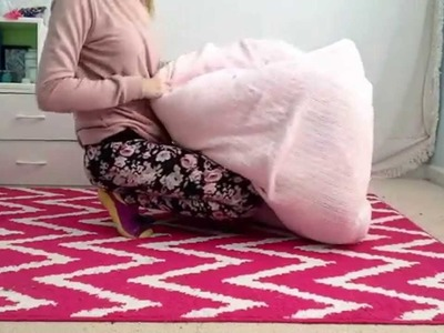 Diy no sew beanbag chair. sitting area
