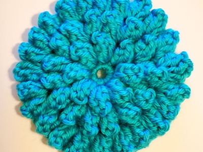 How to Crochet a Flower: Crochet Popcorn Stitch Flower Free Pattern