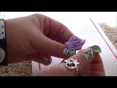 How to make a polymer clay rose, plus win this one♥