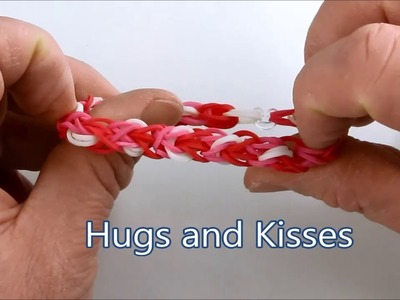 How to make the Hugs and Kisses bracelet on the Rainbow Loom