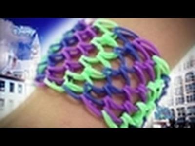 Loom Band Tutorial - Girl Meets World Dragon Scale Cuff - Disney Channel HD