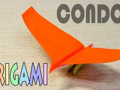 Origami Condor : How to make a paper bird airplane tutorial
