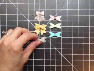 {Paper Smooches} Bow Die How-To