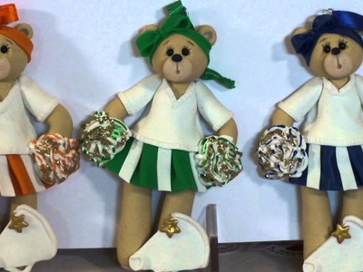 Personalized Belly Bear Cheerleader Ornament by Deb & Co