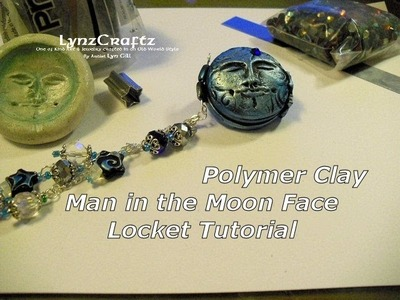 Polymer Clay Man in the Moon Locket Tutorial