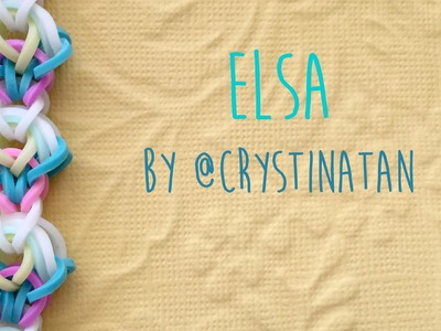 Rainbow Loom Bands Elsa Bracelet by @CrystinaTan
