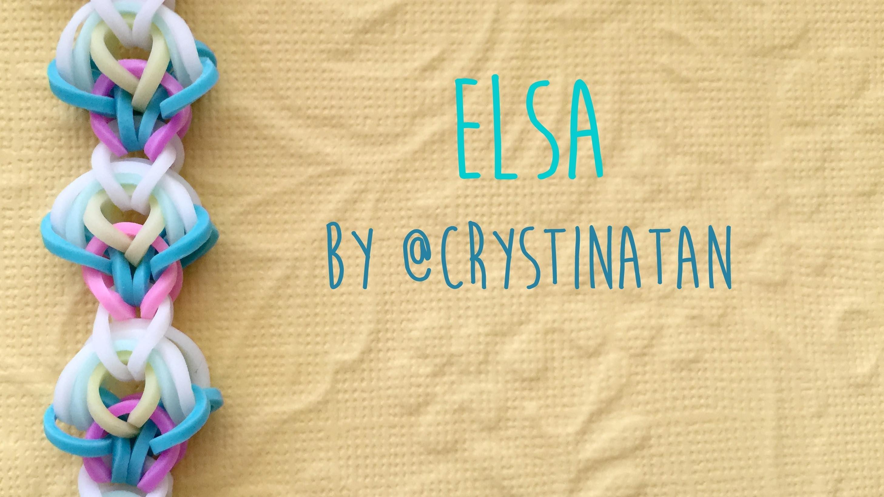 Rainbow Loom Bands Elsa Bracelet by @CrystinaTan