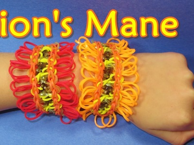 Rainbow Loom Bracelet: LION'S MANE Tutorial