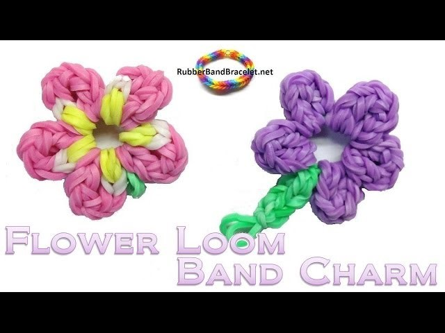 Spring Flower 5 Petals - Loom Band Charm - Without Rainbow Loom