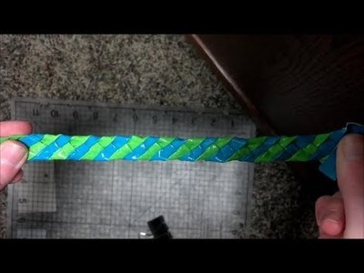 4 Strand Duct Tape Bracelet Tutorial