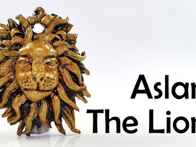 Antique Aslan, The Lion from Narnia, polymer clay TUTORIAL
